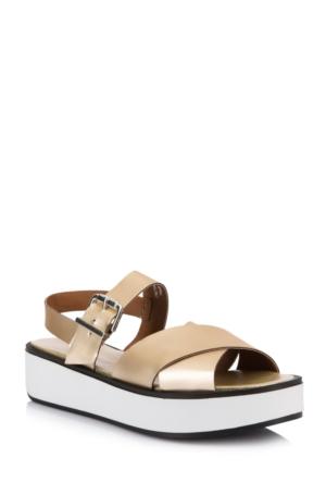 DeFacto Kadın Sandalet Altın