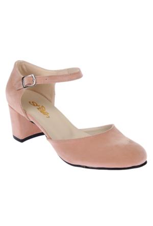 Shalin Alçak Ökçe Kadın Ayakkabı Bşk 1036 Somon