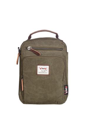 Young Kumaş Body Bag YG31040 Yeşil