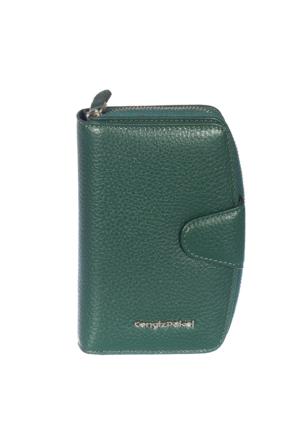 Cengiz Pakel Hakiki Deri Bayan Cüzdan CP65118 Yeşil
