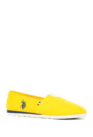 U.S. Polo Assn. Kadın Y7Huff Ayakkabı Sarı