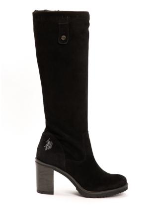 U.S. Polo Assn. Kadın K5Malena Suede Çizme Siyah