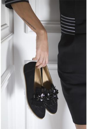İlvi Tokal Iv-82 Günlük Ayakkabı Siyah Süet