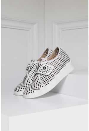 İlvi Sista Gm-419 Günlük Ayakkabı Beyaz Deri
