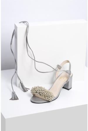 İlvi Anabel 878 Sandalet Gümüş