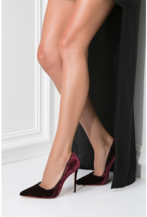 İlvi Kreisi 1362 Stiletto Bordo Kadife