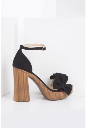İlvi Anna 17136 Sandalet Siyah Süet