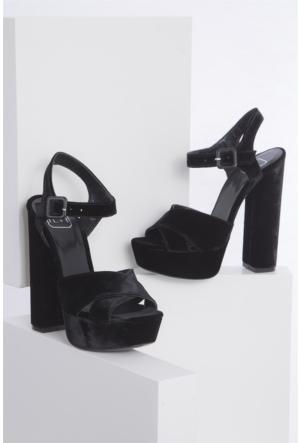 İlvi Lelita 306-Y7 Sandalet Siyah Kadife