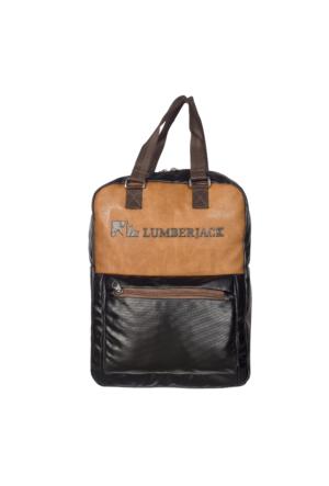 Lumberjack Sırt Çantası Lm7389 Siyah - Kahverengi