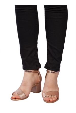 Marla Karen 6009 Roze Topuklu Sandalet
