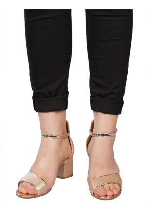 Marla Karen 4009 Gold Topuklu Sandalet