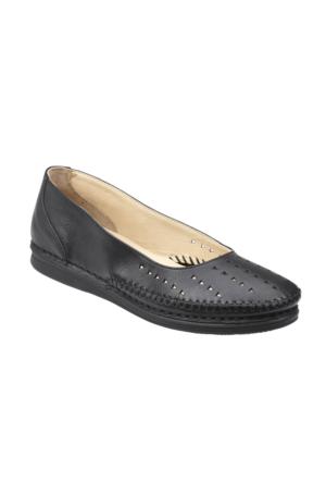Polaris 5 Nokta 61.108017.Z Siyah Kadın Deri Ayakkabı