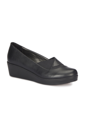 Polaris 72.158085.Z Siyah Kadın Dolgu Topuk Ayakkabı