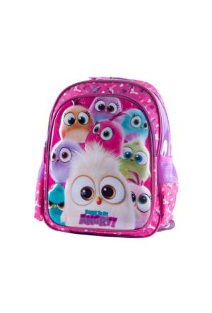 Angry Birds 89042 Mor Kız Çocuk Çocuk Okul Çantası