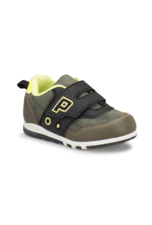 Yellow Kids Pablo Haki Siyah Erkek Çocuk Ayakkabı
