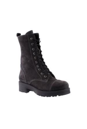 John May Kadın İk-8317 Shiny Leather Çizme