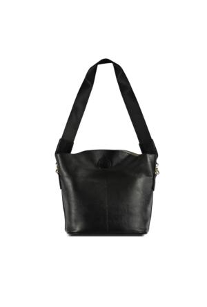 Marjin Akma Günlük Postacı Çanta Siyah