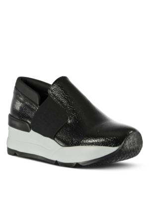 Marjin Mali Dolgu Topuk Ayakkabı Siyah