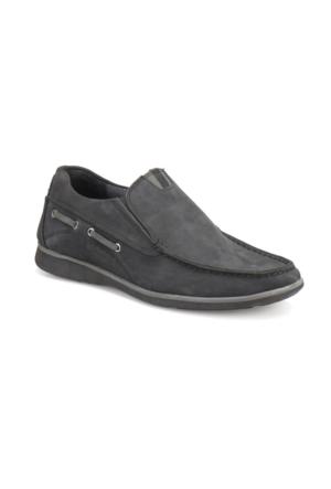Overside 826 Siyah Erkek Deri Ayakkabı