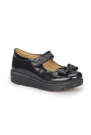 U.S. Polo Assn. Alfa Siyah Kız Çocuk Babet Ayakkabı