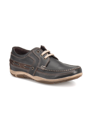 Overside 5076-D Kahverengi Erkek Deri Ayakkabı