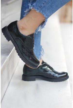 İnce Topuk Oxford Ayakkabı Siyah