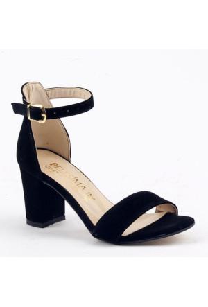 Belesima 8 Cm Topuklu Sandalet Bayan Süet Ayakkabı