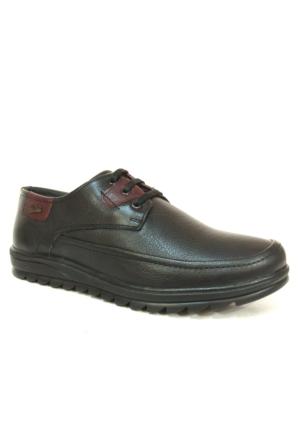 Pepita 3292 Siyah Bordo Bağcıklı Comfort Erkek Ayakkabı