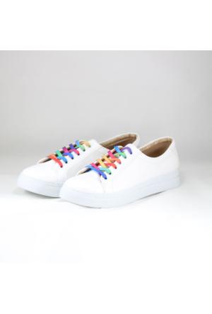 Witty Renkli Bağcıklı Bayan Spor Ayakkabı
