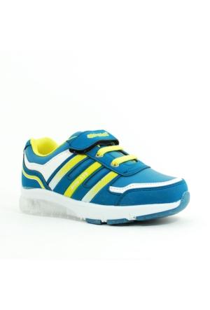 Arvento Erkek Çocuk Işıklı Spor Ayakkabı-Petrol-920-02