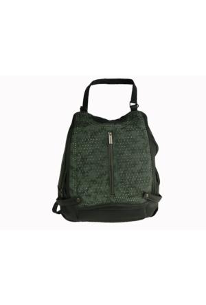 Çanta Stilim Deri Yeşil 1450-Y Kol Çapraz ve Sırt Kadın Çantası