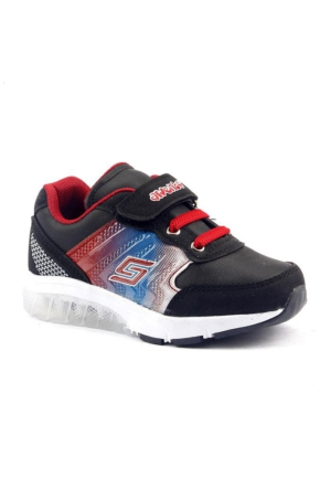 Arvento 930 Günlük Işıklı Cırtlı Rahat Erkek Çocuk Spor Ayakkabı