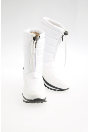 FullaModa 18KDED0060 Kadın Kadın Kar Botu Beyaz