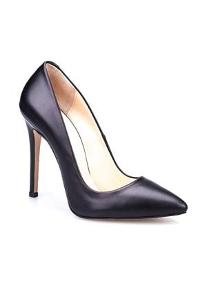 Cabani Stiletto Günlük Kadın Ayakkabı Siyah Deri