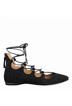 Nine West Nwsignmeup Siyah Gerçek Süet Ayakkabı