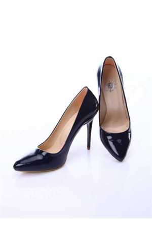 Shoes&Moda Lacivert (Rugan) Kadın Stiletto Ayakkabı 509-6-Nz015157