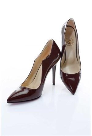 Shoes&Moda Bordo (Rugan) Kadın Stiletto Ayakkabı 509-6-Nz079h29