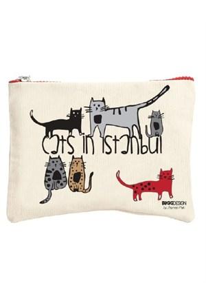 Biggdesign Cats İn İstanbul Küçük Çanta