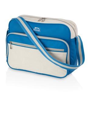 Slazenger 11981900 Retro Omuz Çantası Mavi Beyaz