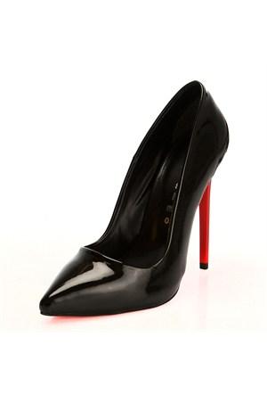 Sothe Zy-1976 Siyah Bayan Stiletto Ayakkabı
