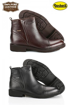 Dockers Erkek Ayakkabı 215152 Merdane Siyah 225421 Bot Klasik