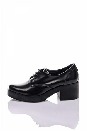 Bueno Siyah Klasik Deri Ayakkabı