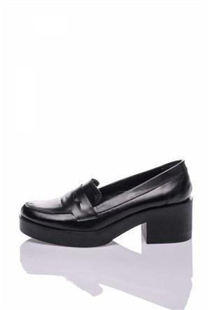 Bueno Siyah Klasik Rugan Ayakkabı