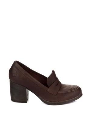 Bueno Kahverengi Deri Kadın Ayakkabı