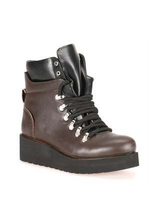 Kinetix 1257401 Kahverengi Kadın Sneaker Ayakkabı