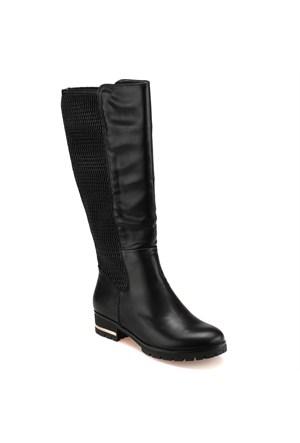 Miss F F17040 Siyah Kadın Çizme