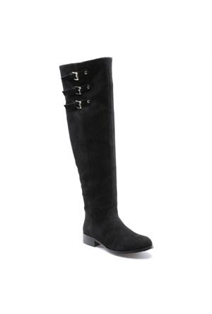 Miss F F17045 Siyah Kadın Çizme