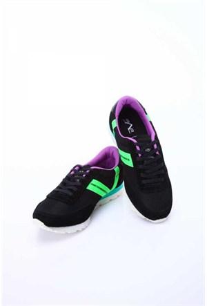 Versace 19.69 Abbigliamento Sportivo Srl. 19V69 Italia Unisex Siyah-Yeşil Deri Spor Ayakkabı 5Vxu60014437