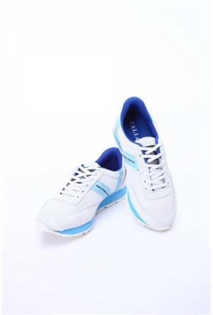 Versace 19.69 Abbigliamento Sportivo Srl. 19V69 Italia Unisex Beyaz-Saks Deri Spor Ayakkabı 5Vxu60014482