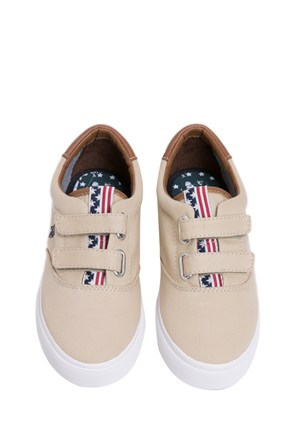 U.S. Polo Assn. Erkek Çocuk Bej Ayakkabı